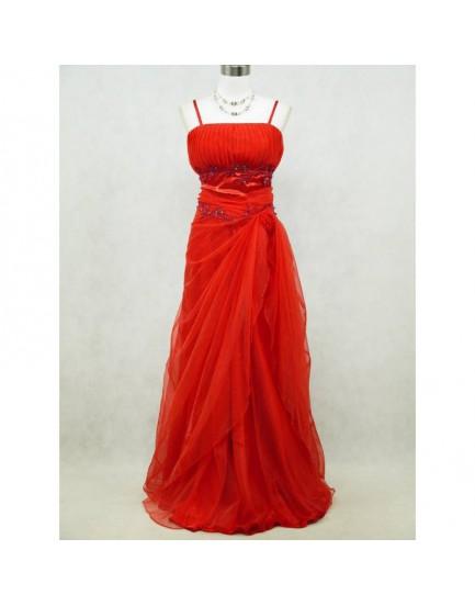 Elegant Red Long Formal Ball Evening Dress - Dress 20-22