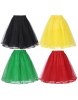 Retro Coloured 3 Layer Petticoat - Sizes 6-26